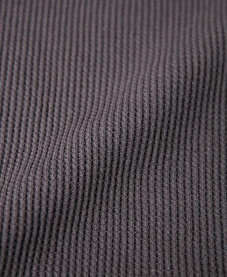 FREEWHEELERS フリーホイーラーズ  HIGH NECK THERMAL LONG SLEEVE SHIRT (BLACK)
