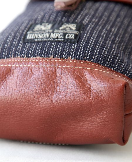 "【別注】 COLIMBO コリンボ "" HINSON AMMO POUCH "" - BEACH CLOTH × LEATHER -"