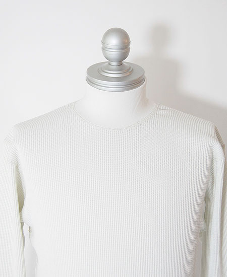 FREEWHEELERS フリーホイーラーズ  HIGH NECK THERMAL LONG SLEEVE SHIRT (IVORY)