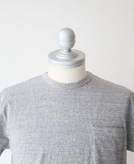 STEVENSON OVERALL CO. スティーブンソン オーバーオール POCKET T-SHIRTS PT 2019ss (H.GRAY)