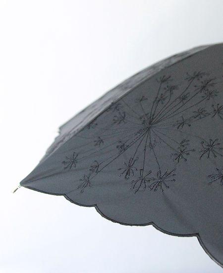 muuc ムーク フェンネル花刺繍の雨天兼用日傘
