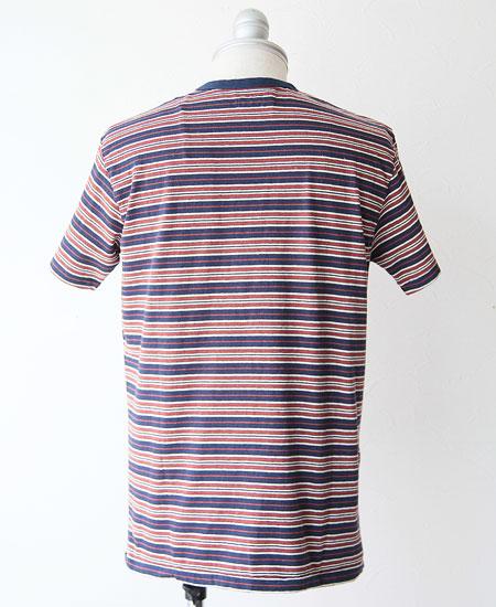 STEVENSON OVERALL CO. スティーブンソン オーバーオール Classic Bordered Pocket T-shirt (NAVAY)