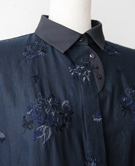 everlasting sprout エバーラスティングスプラウト 野小花刺繍のワンピースドレス