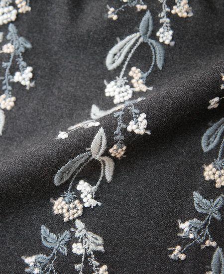 everlasting sprout エバーラスティングスプラウト 撫菜刺繍のワンピースドレス