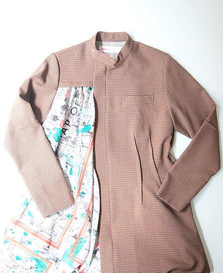 mintdesigns ミントデザインズ MAP CHECK DRESS