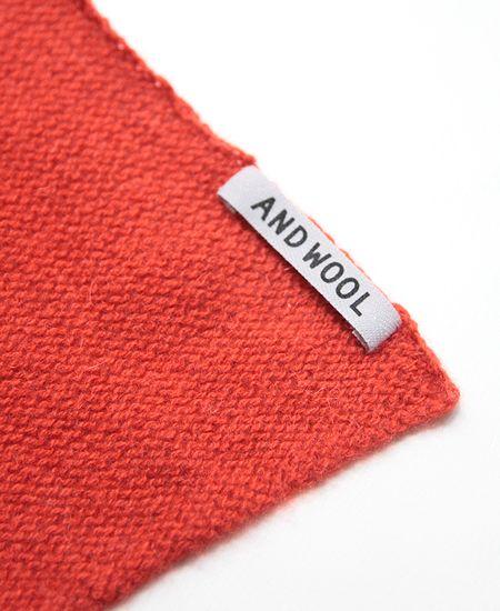 muuc ムーク AND WOOL カシミヤセーブル糸で編んだ細巾ストール