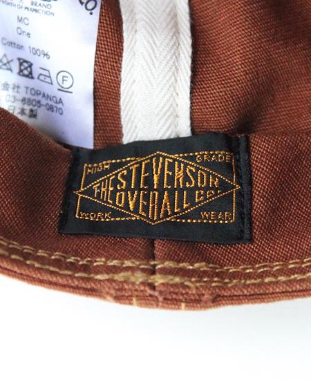 STEVENSON OVERALL CO. スティーブンソンオーバーオール MECHANIC CAP (BROWN)