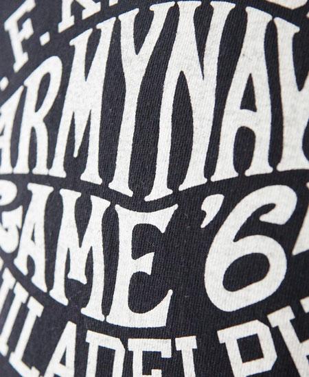 COLIMBO コリンボ FAIR FIELD TEE SHIRT - ARMY NAVY GAME 64 - (BLACK)