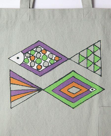 mina perhonen ミナペルホネン pesce ペッシェ レッスンバッグ (Kids)