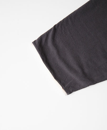 COLIMBO コリンボ TRAPPOLA REVERSIBLE 3QTR TEE (BLACK × SNOW)