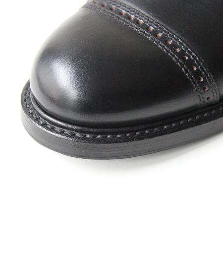 """WHEELROBE ウィールローブ 5"""" CAP TOE LACE UP BOOTS キャップ トゥ レース アップ ブーツ (BLACK)"""