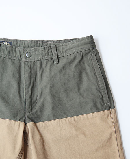 COLIMBO コリンボ TAMPA-MONSOON SHORTS (GREEN×BEIGE)