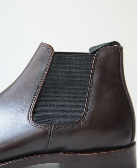 WHEELROBE ウィールローブ ELASTIC SIDE BOOTS サイドゴア ブーツ (BROWN)