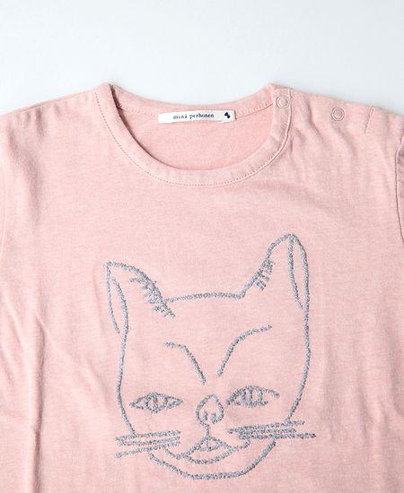 【SALE】 mina perhonen ミナペルホネン bestie  ベスティー (仔猫) 長袖Tシャツ (Kids)