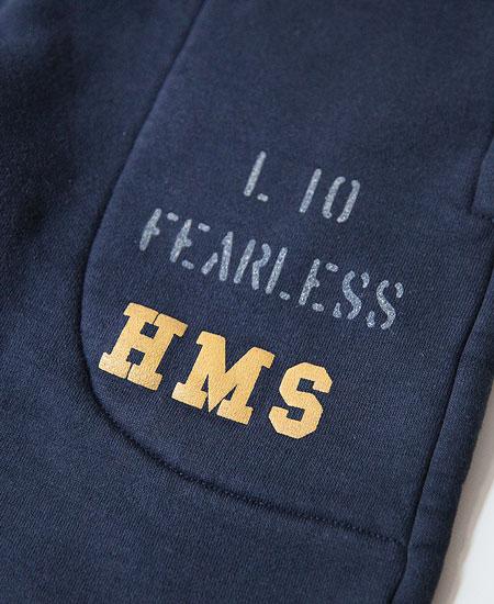 COLIMBO コリンボ ROTC SHACK HEAVY WT.SWEAT PANTS - HMS L10 FEARLESS - (NAVY)