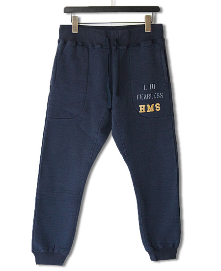 COLIMBO コリンボ ROTC SHACK HEAVY WT.SWEAT PANTS - HMS L10 FEARLESS - (NAVY)