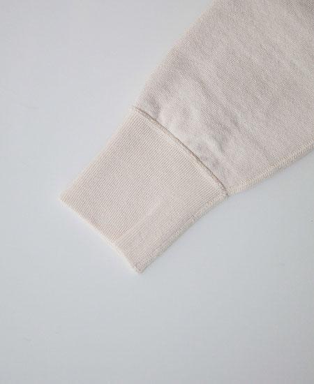 COLIMBO コリンボ HAMILTON FLAT SEAMED SWEAT SHIRT (ECRU)