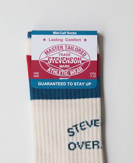 STEVENSON OVERALL CO. スティーブンソン オーバーオール ATHLETIC SOCKS (WHITE)