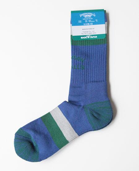STEVENSON OVERALL CO. スティーブンソン オーバーオール ATHLETIC SOCKS (BLUE)