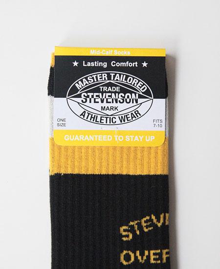 STEVENSON OVERALL CO. スティーブンソン オーバーオール ATHLETIC SOCKS (BLACK)