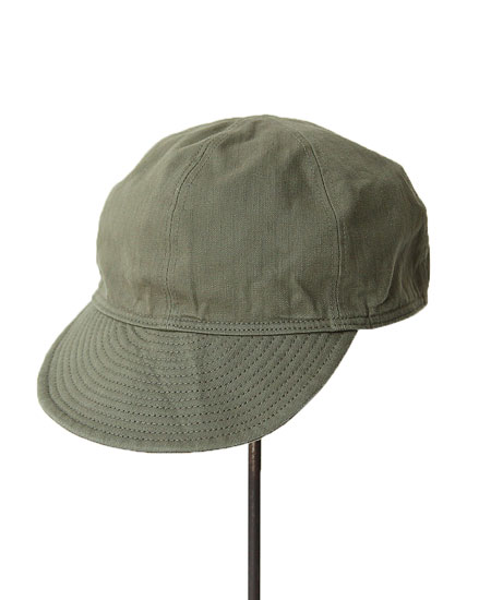 STEVENSON OVERALL CO. スティーブンソンオーバーオール MECHANIC CAP (Olive Drab)