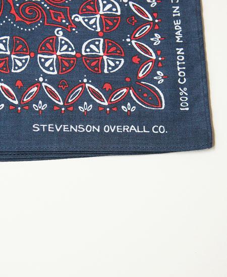 STEVENSON OVERALL CO.スティーブンソン オーバーオール BANDANA (NAVY×RED)