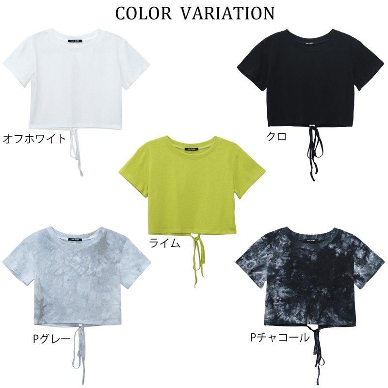 バックリボンショート丈Tシャツ
