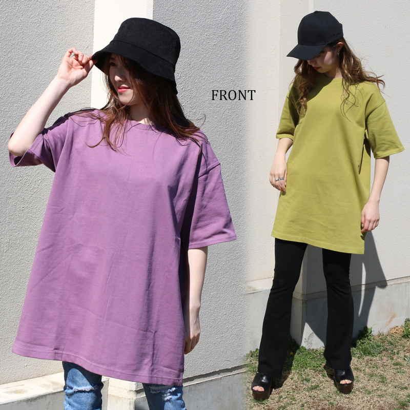 [SALE]バックスリットビッグシルエットTシャツ