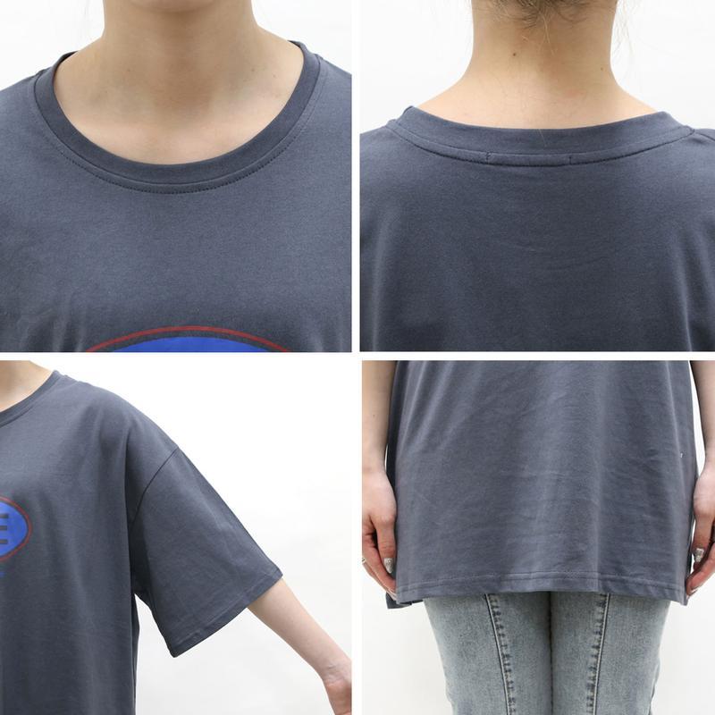 配色ロゴTシャツ