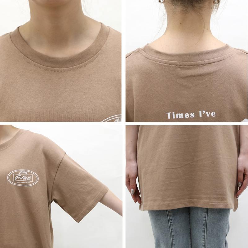 ロゴプリントゆるTシャツ