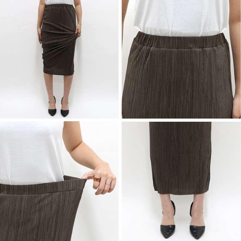 プリーツロングタイトスカート