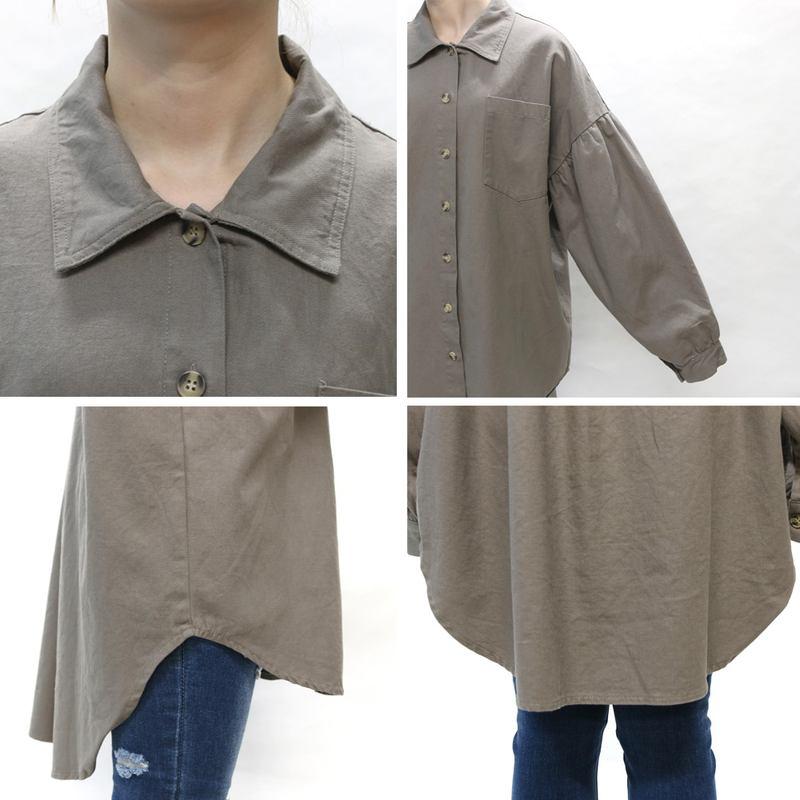 バックゼブラツイルビッグシャツ