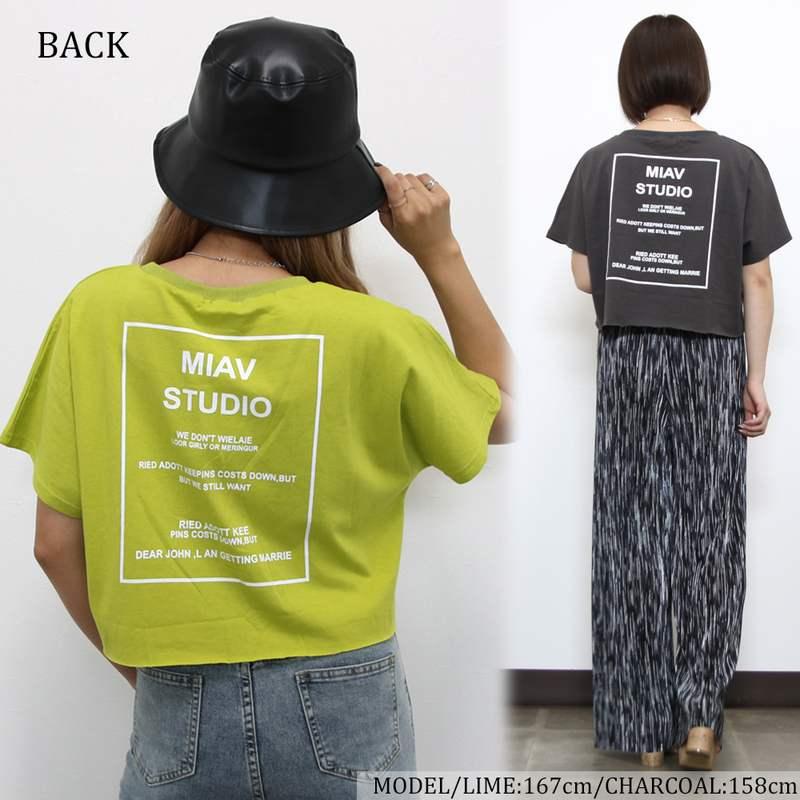 ダメージロゴショートTシャツ