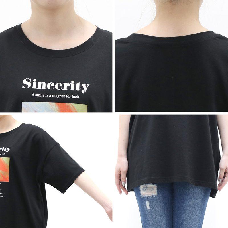 [SALE]マーブルプリントTシャツ