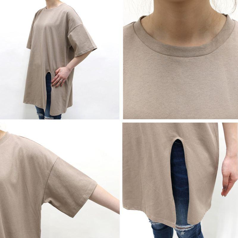 ベーシックスリットTシャツ