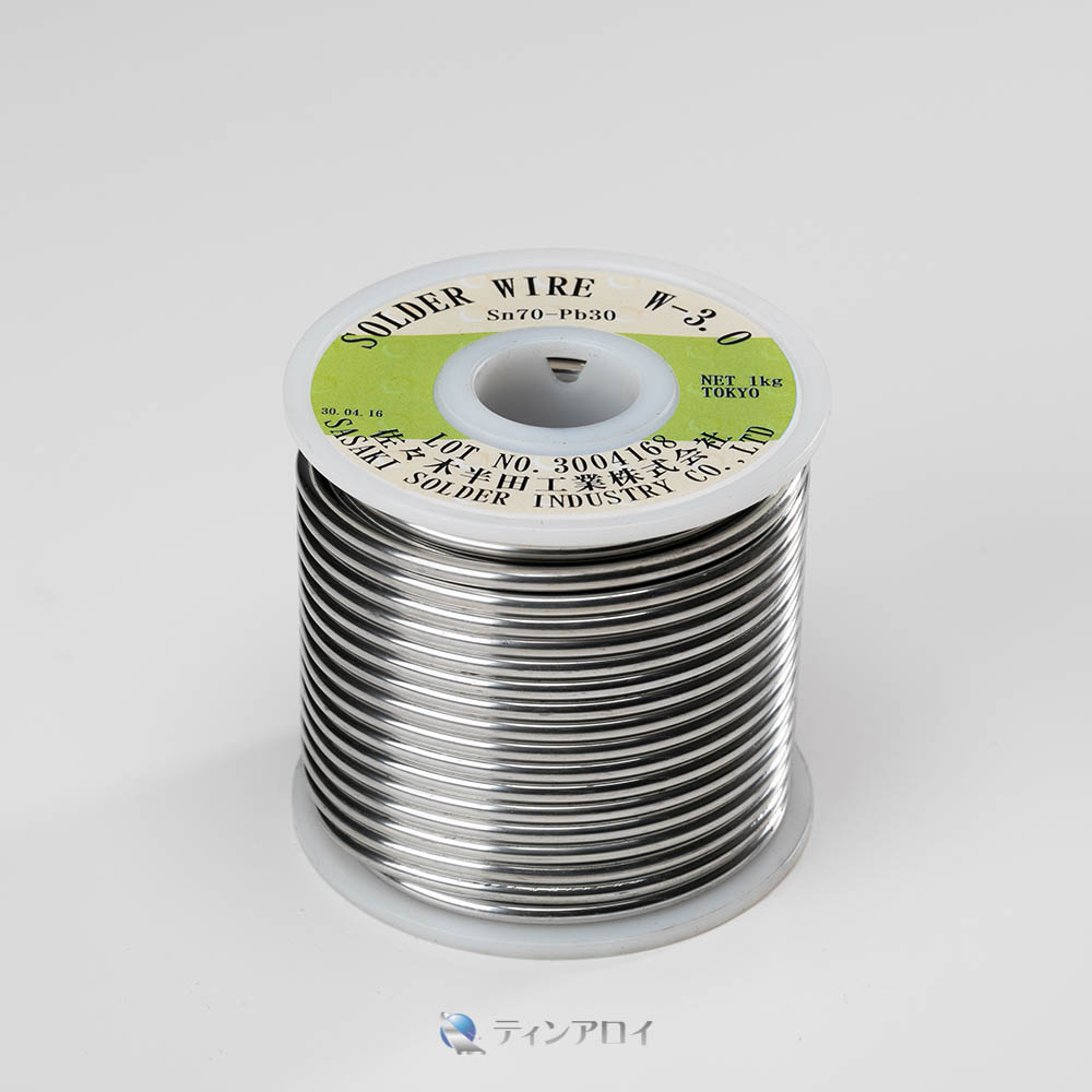 ハンダ線コイル巻き(Sn70Pb30/錫70鉛30) 3.0φ