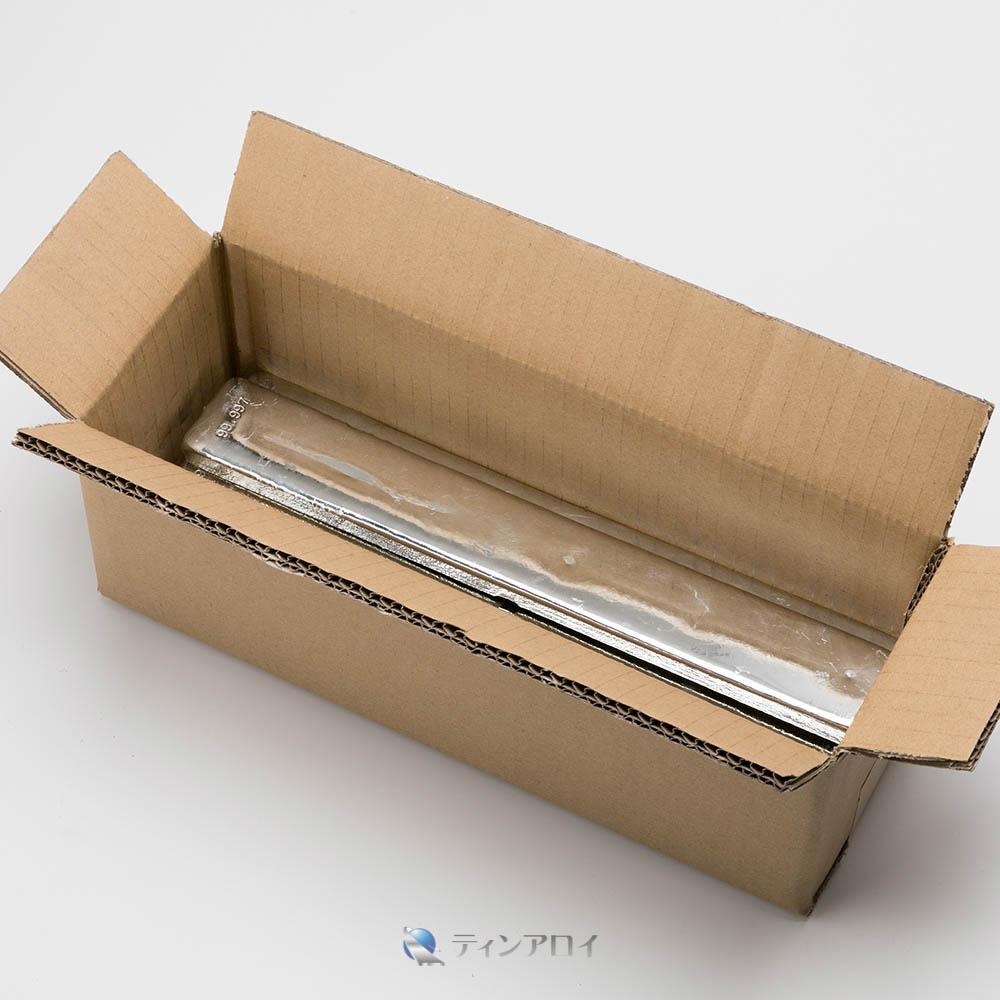 錫インゴット(PGT錫 純度:99.997%up)5本 徳用6kg