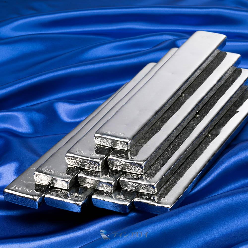 錫インゴット(PGT錫 純度:99.997%up)10本 徳用12kg