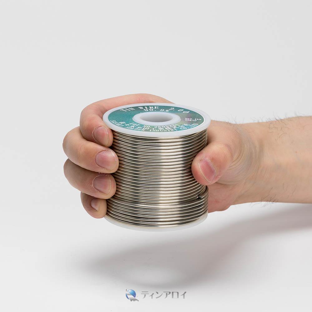 錫線コイル巻き(純度:99.9%) 2.0φ 1kg