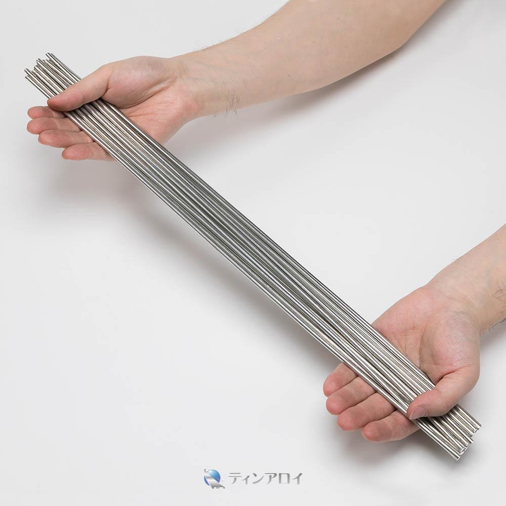ハンダ線 鉛フリー(Sn96.5Ag3.5/錫96.5銀3.5) 4.0φ×500mm 1kg
