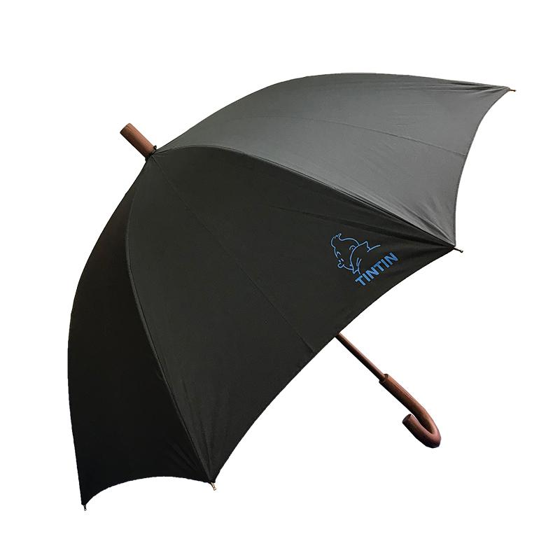 晴雨兼用長傘/タンタン/ブラック