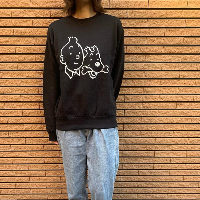 スウェットシャツ/フェイス/ブラック/ M