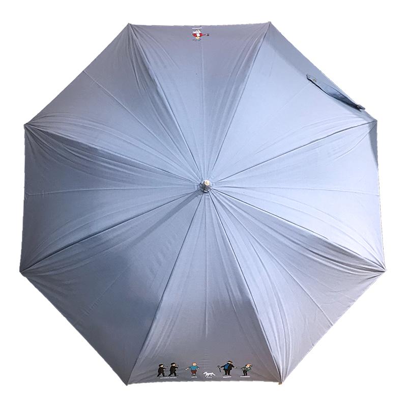 傘/プリント/オールキャスト/ブルーグレー