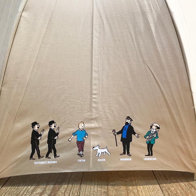 傘/プリント/オールキャスト/ベージュ