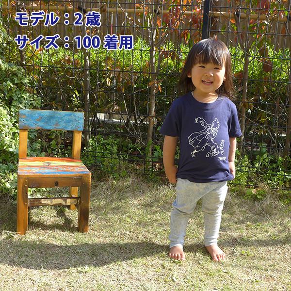 KIDS ベーシックTシャツ/レポーター/ネイビー 100/120/130/140