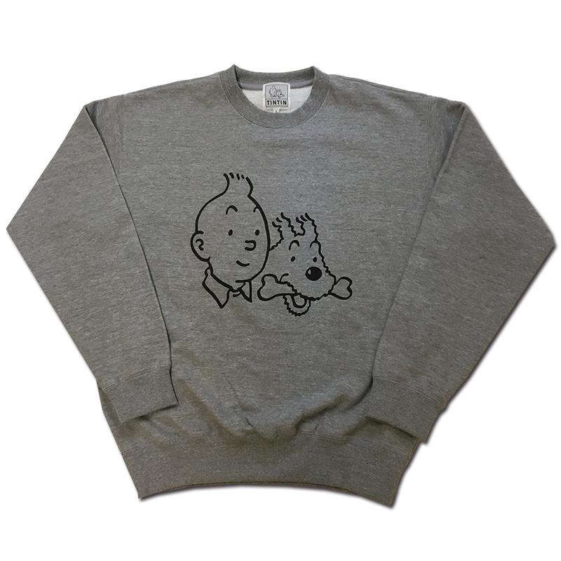 スウェットシャツ/フェイス/ヘザーグレー/ S - XL