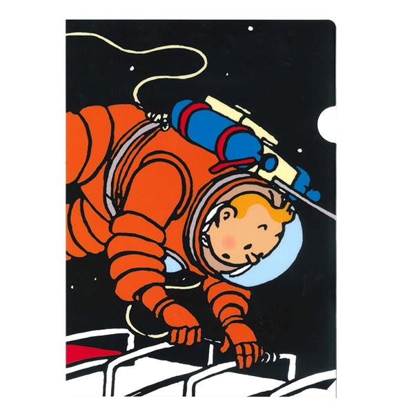 A4クリアホルダー/タンタン宇宙遊泳
