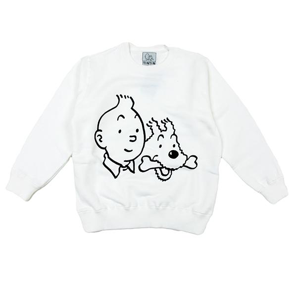 KIDSスウェット1/ホワイト/110-130
