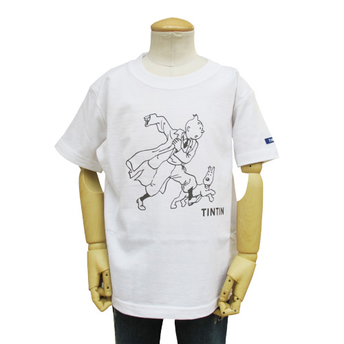 KIDS ベーシックTシャツ/レポーター/ホワイト 100/120/130/140