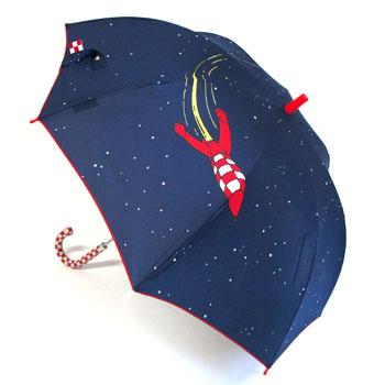 傘/パネルプリントロケット/ネイビー